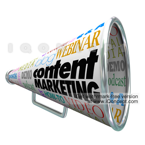 content-marketing-audience-outreach-bullhorn-megaphone-stock-image